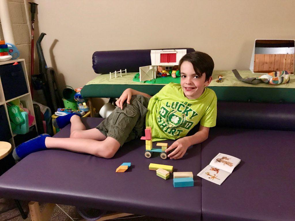 Aidan at Senses in Motion Anat Baniel Method (ABM) Neuromovement Therapy